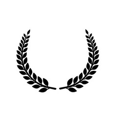 Circular laurel foliate icon vector