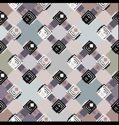 Color abstract ethnic seamless pattern vector