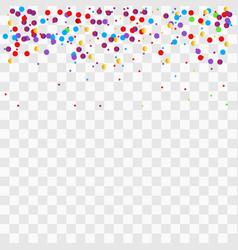 colorful bright confetti isolated vector image