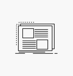 content design frame page text line icon isolated vector image