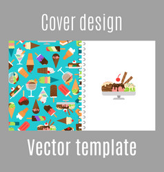 cover design with ice cream pattern vector image