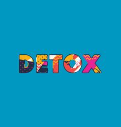 Detox concept word art vector