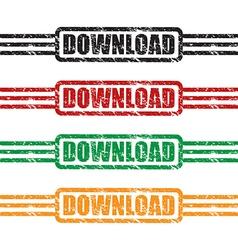 download stamp set vector image