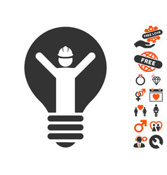 electrician icon with lovely bonus vector image