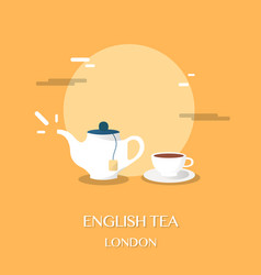 english tea at museum in london design vector image vector image