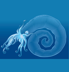 Fantastic sea monster vector