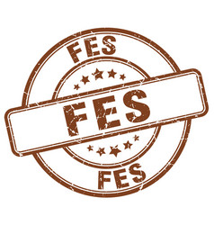 Fes stamp vector