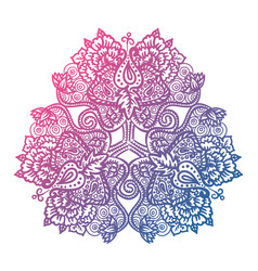 Floral tribal mandala vector