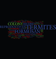 Formosan termites ii text background word cloud vector
