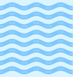 geometric simple minimalistic marine pattern vector image