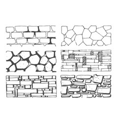hand drawn sketch of wall texture vector image