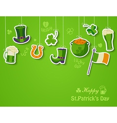 Happy St Patricks day greeting card vector image