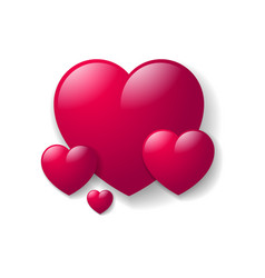 happy valentines day hearts vector image