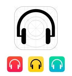 Headphones icon vector image vector image