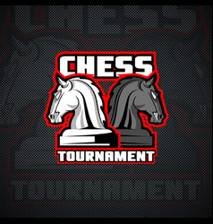 horse chessmen logo template vector image