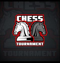 Horse chessmen logo template vector
