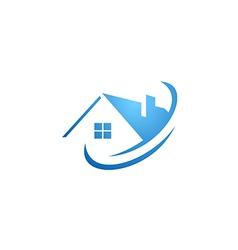 house abstract roconstruction logo vector image