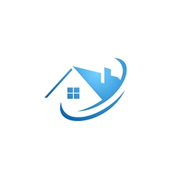 house abstract roof construction logo vector image