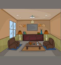 Interior living room scene vector