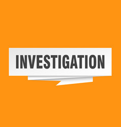 Investigation vector