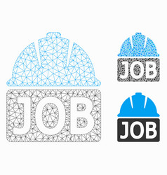 job mesh network model and triangle mosaic vector image