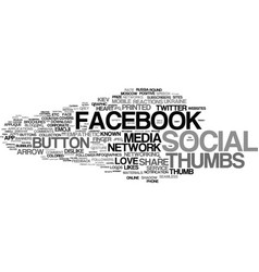 Like word cloud concept vector
