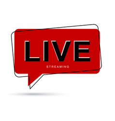 live streaming bubble bubble talk vector image