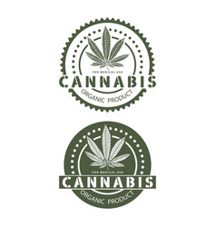 medical organic cannabis vector image