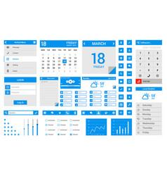 mobile app user interface design vector image