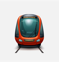 Modern electric train front view vector