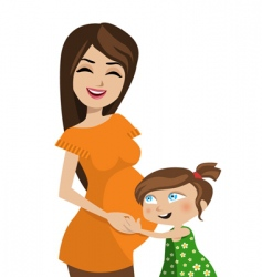 mother and kid vector image