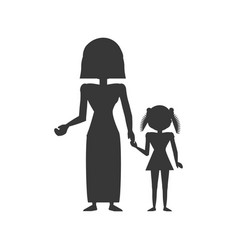Mother family daughter vector