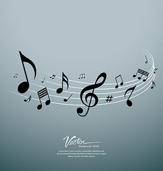 Musical notes design background vector