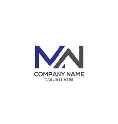 mw letter logo design template vector image