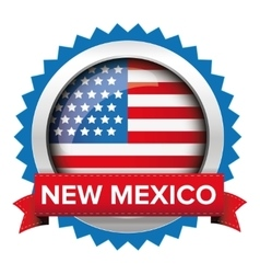 New Mexico and USA flag badge vector