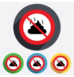 No feces sign icon clean up after pets symbol vector