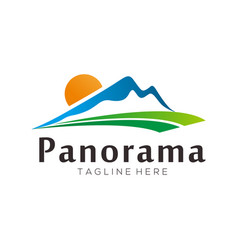 panorama landscape logo and icon design vector image