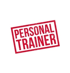 Personal Trainer rubber stamp vector image