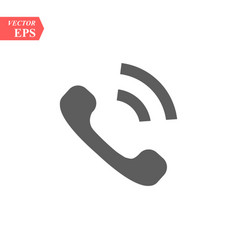 phone icon in trendy flat style isolated on grey vector image