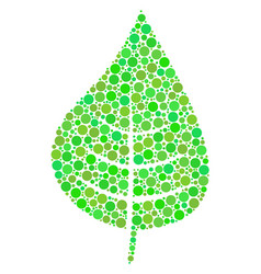Plant leaf mosaic of dots vector