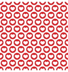 Red heart seamless pattern vector image
