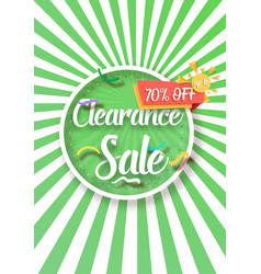 Sale poster paper lettering vector
