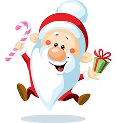 Santa Claus is looking forward to Christmas - vector