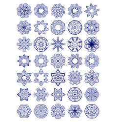 Set of simple sacred geometry symbols vector