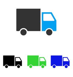 Shipment van flat icon vector