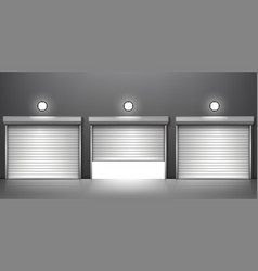 shutter door or rolling door vector image
