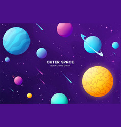 Space futuristic modern colorful background night vector