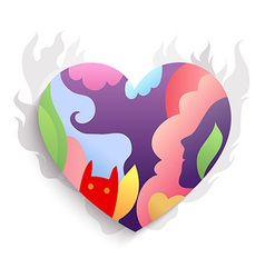Spirit Heart colorful vector image