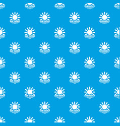 sun energy pattern seamless blue vector image