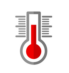 thermometer flat icon on white stock vector image